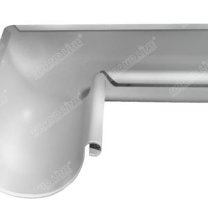 Угол желоба внутренний Optima 90 гр 125мм белый