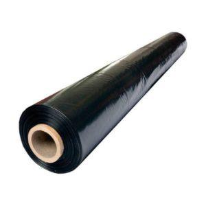 Пленка полиэтиленовая 1500х2 100мкр черная (25м, 75м2)
